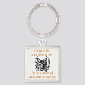 Affairs of Cats Square Keychain