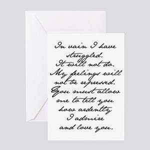 5 Jane Austen Prop... Greeting Card