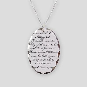 4 Jane Austen Prop... Necklace Oval Charm