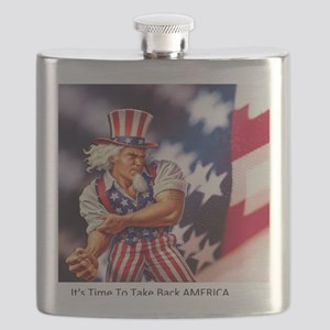Time to take back America Flask