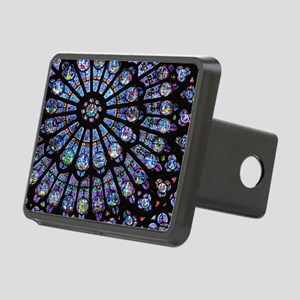 Stained glass window Notre Rectangular Hitch Cover