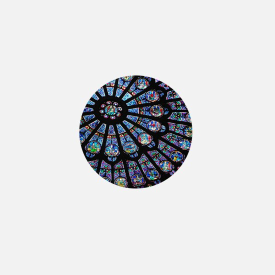 Stained glass window Notre Dame Mini Button