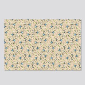 Blue and Green Floral Swi Postcards (Package of 8)
