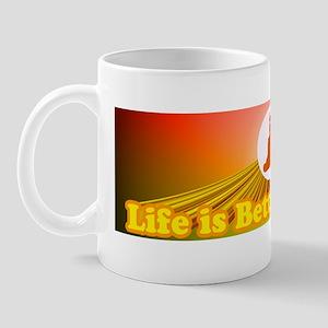 Life is Better Aligned Bumper Sticker Mug