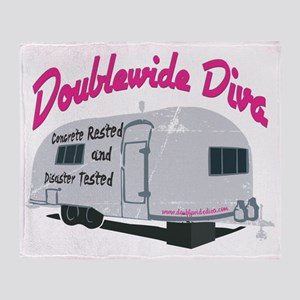 Doublewide Diva Stronger than a Disa Throw Blanket