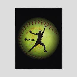 iPitch Fastpitch Softball (left handed) Twin Duvet
