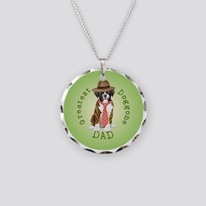boxer dad-button2 Necklace Circle Charm