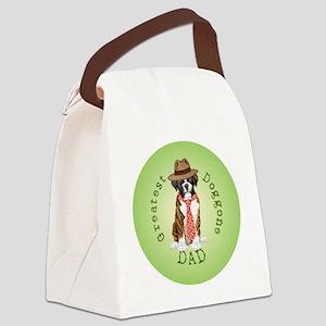 boxer dad-button2 Canvas Lunch Bag