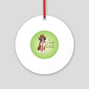 boxer dad Round Ornament