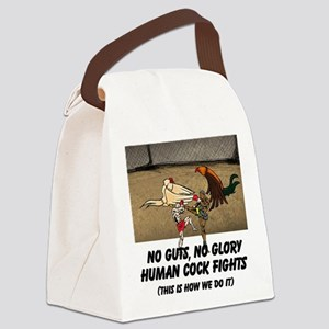 No Guts, No Glory Human Cock Figh Canvas Lunch Bag