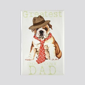 bulldog dad1T Rectangle Magnet