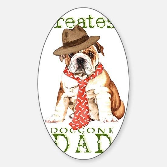 bulldog dad1 Sticker (Oval)