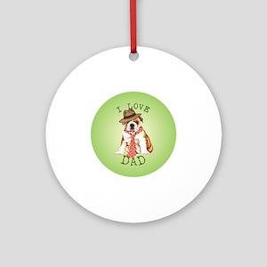 bulldog dad Round Ornament