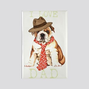 bulldog dadT Rectangle Magnet