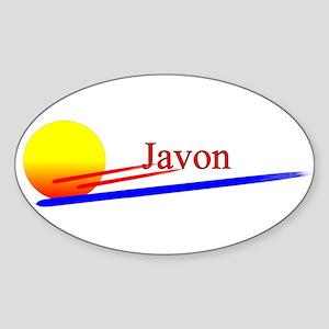 Javon Oval Sticker