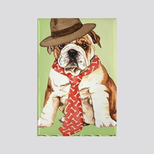 bulldog dad-card Rectangle Magnet