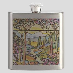 Tiffany Landscape Window Flask