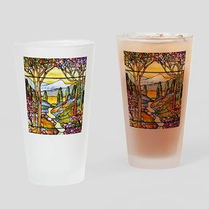 Tiffany Landscape Window Drinking Glass