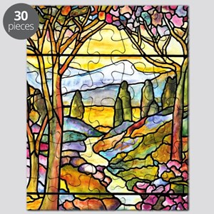 Tiffany Landscape Window Puzzle