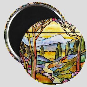 Tiffany Landscape Window Magnet