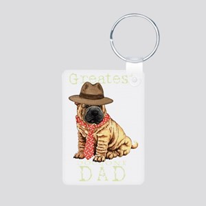 sharpei dad1T Aluminum Photo Keychain