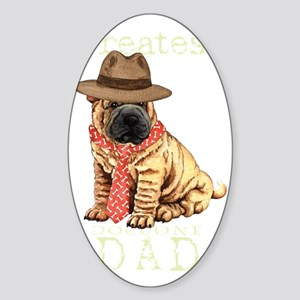 sharpei dad1T Sticker (Oval)