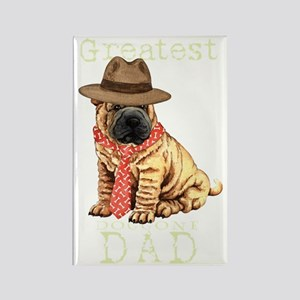 sharpei dad1T Rectangle Magnet