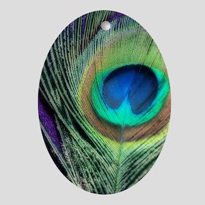 Peacock Purple Orton Oval Ornament