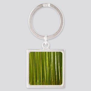 Bamboo abstract Square Keychain