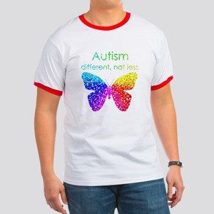 Autism Butterfly, different, not less Ringer T