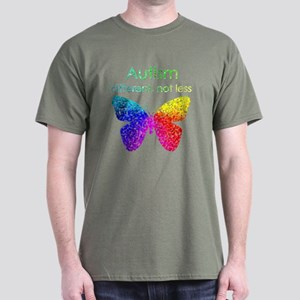 Autism Butterfly, different, not less Dark T-Shirt