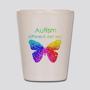 Autism Butterfly, different, not less Shot Glass