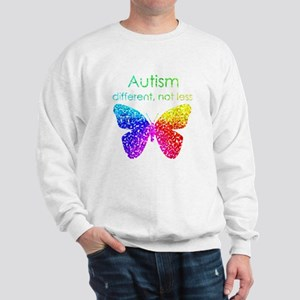 Autism Butterfly, different, not less Sweatshirt