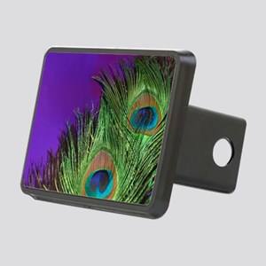 Purple Foil Peacock Rectangular Hitch Cover