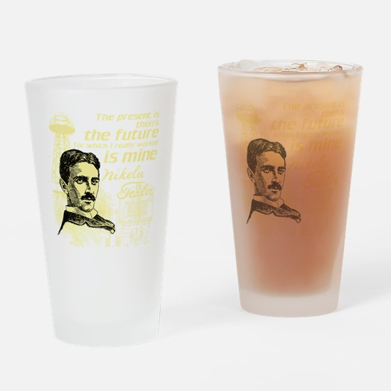 The Future Is Teslas Drinking Glass