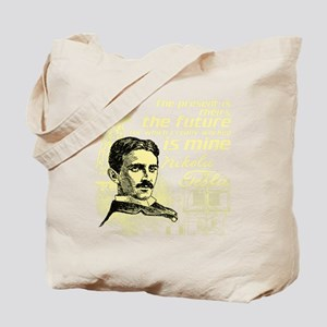 The Future Is Teslas Tote Bag