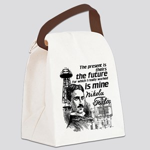 The Future Is Teslas Canvas Lunch Bag