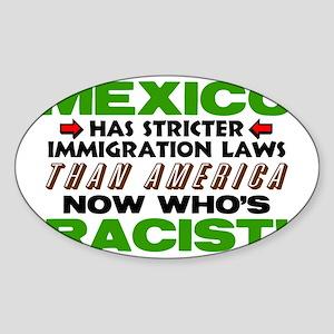 Now Whos Racist Sticker (Oval)