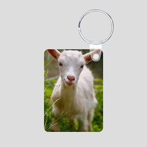 Baby goat Aluminum Photo Keychain