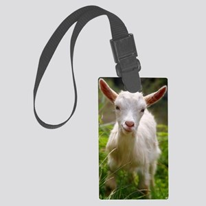 Baby goat Large Luggage Tag