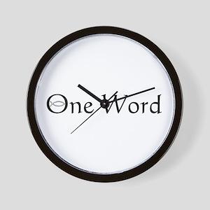One Word Wall Clock