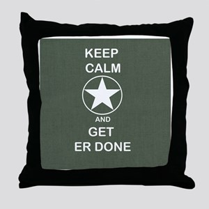 Keep Calm and Get ER Done Throw Pillow