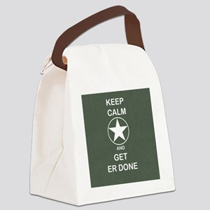 Keep Calm and Get ER Done Canvas Lunch Bag