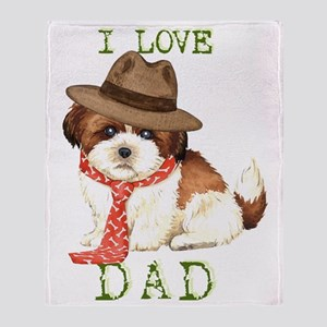 shih tzu dad Throw Blanket