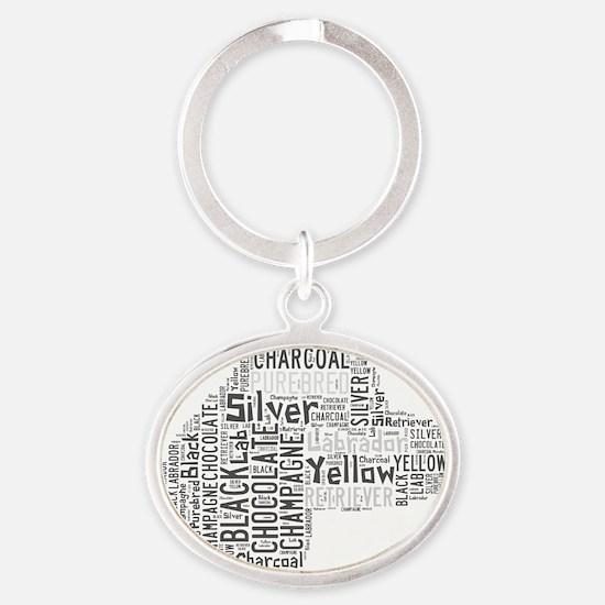 Purebred Labrador Retreiver Oval Keychain