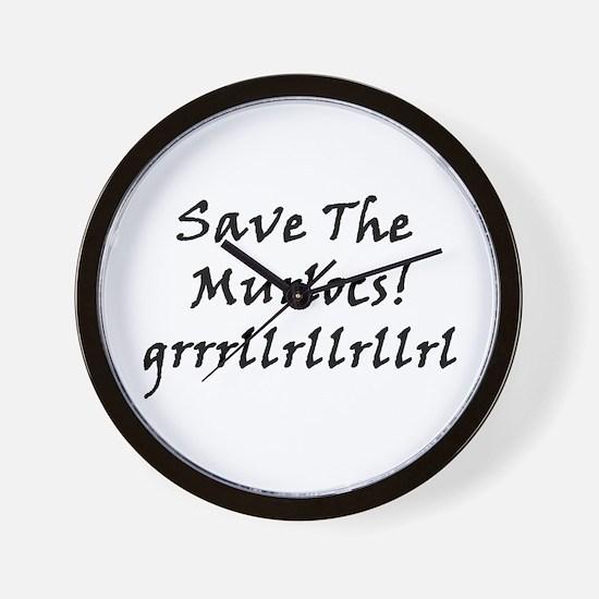 Save The Murlocs Wall Clock