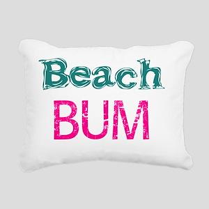Beach Bum  (pink) Rectangular Canvas Pillow