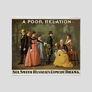 A poor relation - Strobridge - 1901 Throw Blanket