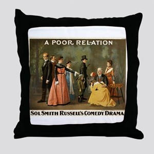A poor relation - Strobridge - 1901 Throw Pillow