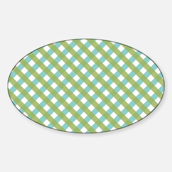 Criss Cross Lime Sticker (Oval)